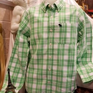 Abercrombie & Fitch green plaid shirt